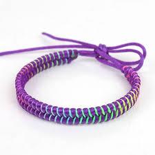 cord braid bracelet images Rainbow waxed knitted bracelets cords braided hemp rope woven jpg
