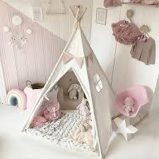 amazon com kids teepee children play tent with mat u0026 carry case