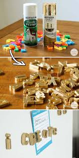 Metallic Gold Fabric Spray Paint - 30 low budget makeovers you could do with spray paint magnetic