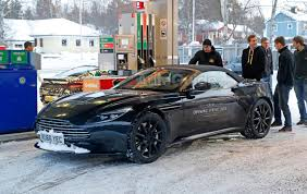 aston martin db11 convertible starts testing in sloppy winter