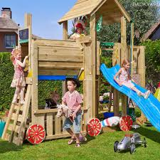jungle gym wooden jungle mansion climbing frame playset with train