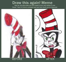 Cat In The Hat Meme - old vs new cat in the hat by kessielou on deviantart
