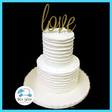 buttercream rustic wedding cake with love topper blue sheep bake