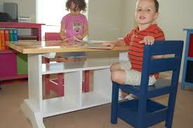 ana white children u0027s homeschool craft play area in our living