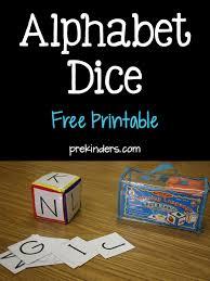 printable alphabet recognition games alphabet dice games prekinders