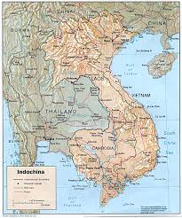 Physical Map Of Asia by Indochina Physical Map 1985 Full Size