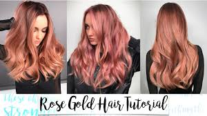 rose gold hair color rose gold hair tutorial youtube