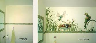 wandgestaltung gäste wc tapete für ein gäste wc atelier latzke