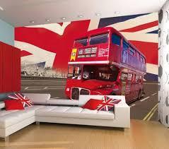 london double decker bus wallpaper mural wallpaper mural at