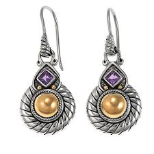 amethyst drop earrings bali designs by robert manse 0 22ct amethyst drop earrings