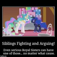 Princess Celestia Meme - celestia and luna arguing by xxmisery severityxx on deviantart