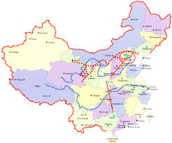 Beijing World Map by Beijing Xian And Guilin Maps For Cycling
