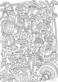 mushrooms favoreads coloring club printable coloring pages for