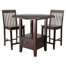 pub table and chairs with storage 3 piece storage pub set threshold target pub table sets