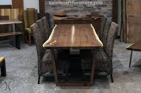 Black Wooden Dining Table And Chairs Live Edge Slab Dining Tables Walnut Slabs And Tops