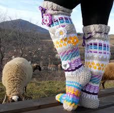 the knee socks knee high socks knit knee sockshandmade