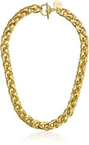 1ar by unoaerre 1ar by unoaerre 18k gold plated groumette chain link