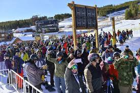 breckenridge ski resort marks opening day with big crowds and