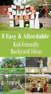 Backyard Ideas For Children 8 Easy U0026 Affordable Kid Friendly Backyard Ideas Kid Friendly