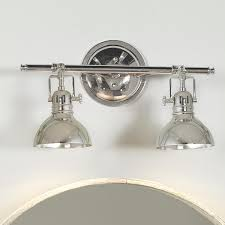 Unique Bathroom Lighting by Pullman Bath Light 2 Light Powder Polished Nickel And Boys