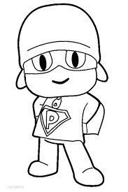 pocoyo coloring pages coloring books 5951