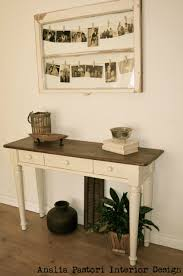 White Distressed Desk by Farmhouse Style Computer Desk Distressed Antique White And Brown