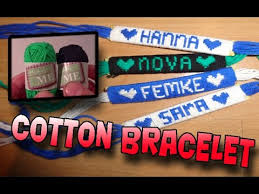 make bracelet with name images How to make a name bracelet using cotton yarn jpg