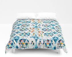Tribal Print Bedding Orange Bedding Etsy