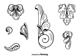 vintage versace ornaments free vector 420681 cannypic