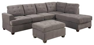 3 piece sectional sofa set gray charcoal transitional living