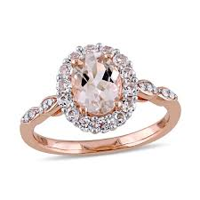white topaz engagement ring oval morganite white topaz and diamond accent frame engagement
