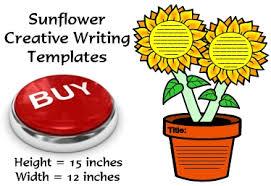 large sunflower writing templates flower shaped creative writing