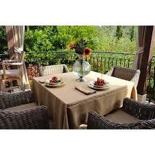 burlap table linens wholesale shop and save havana faux burlap 90 square tablecloth