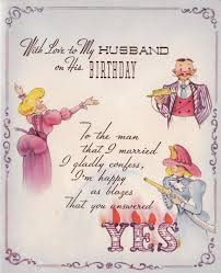 birthday cards for husband with love 1950s with love to my