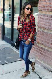 14 ways to wear your favorite plaid shirt this winter glamour