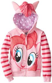 amazon com my little pony girls u0027 pinky pie hoodie clothing