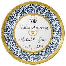 60th anniversary plates 60th wedding anniversary plates zazzle