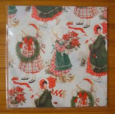 flat christmas wrapping paper vtg hobbie flat christmas gift wrap wrapping paper 2 sheets