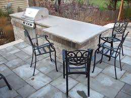 Patio Furniture Milwaukee Wi by Outdoor Kitchens Unilock Olde Quarry Bbq Limestone Countertop