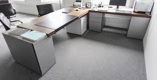 bureau gris laqué mobilier de bureau de direction en bois metal laque gris aluminium