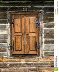 rustic window shutters stock photo image 43462646