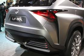 lexus lf nx interior lexus lf nx crossover concept is one mean looking hybrid
