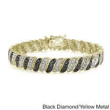 bracelet diamond yellow images Shop db designs 1ct tdw black or blue and white diamond bracelet jpg