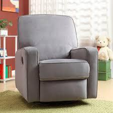 Rocking Recliner Chair For Nursery Dawson Swivel Glider Recliner I The Modern Shape Grey