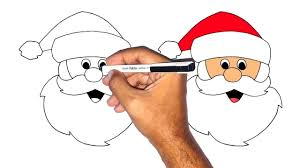 how to draw santa claus step by step easy learning coloring pages