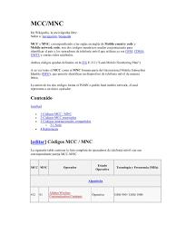 codigos operadora moviles mcc