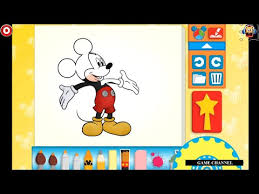 mickey mouse color and play clup house paint 3d color disney