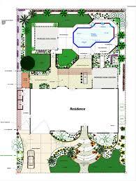 landscape architecture design blueprints backyard fence ideas