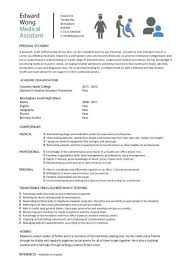 Cna Resume Template Free Medical Assistant Resume Templates Free Resume Template And