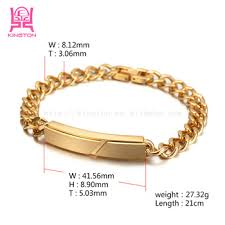 bracelet gold man stainless steel images Fashion 316l stainless steel cuban curb link chain men 39 s bracelets jpg